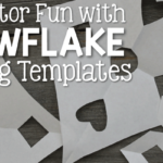 Snowflake Cutting Templates for Fine Motor Fun