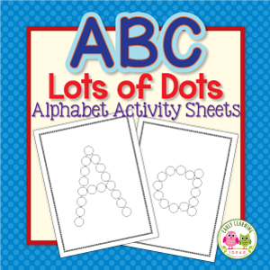 Alphabet dot tracing sheets