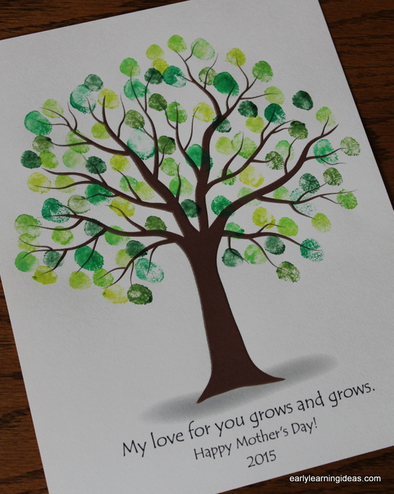 Make custom colored ink pads early learning ideas for Friendship tree template