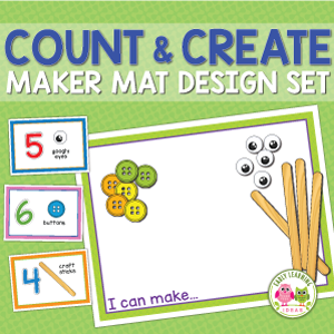Preschool STEAM count and create maker mat