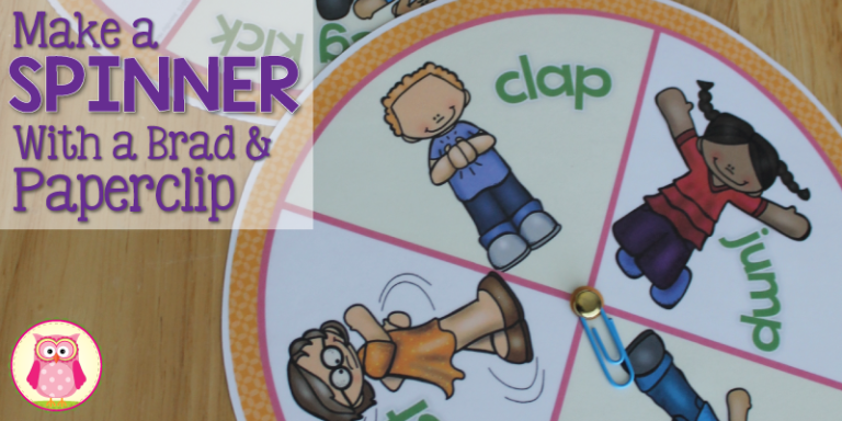 Make a Game Spinner with a Brad and Paperclip