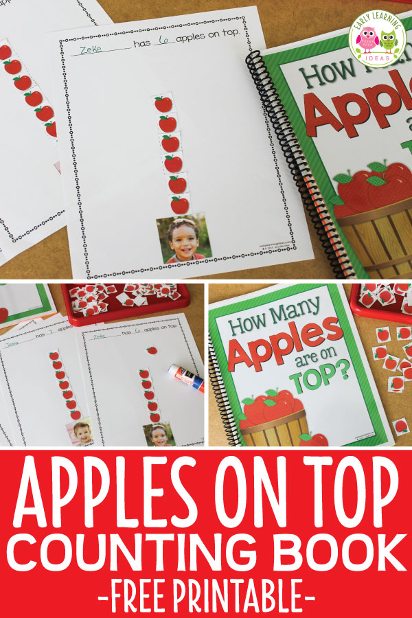 Here are some free printables to help you make an apple counting book for your kids. They will enjoy reading this fun numbers book. It features them. Perfect for your apple theme, back to school theme, Johnny Appleseed theme unit or lesson plans. The apple activity is also a perfect add to your study of the Dr. Seuss Ten Apples on Top book. Make the book in your literacy centers then read it during circle time or add to your class library. #applesactivities #preschool