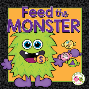 monster learning activity for preschool and pre-k