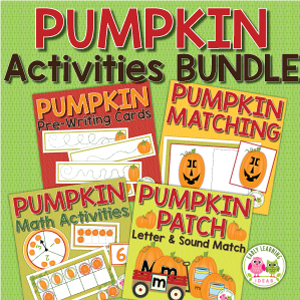 pumpkin activities for preschool and pre-k