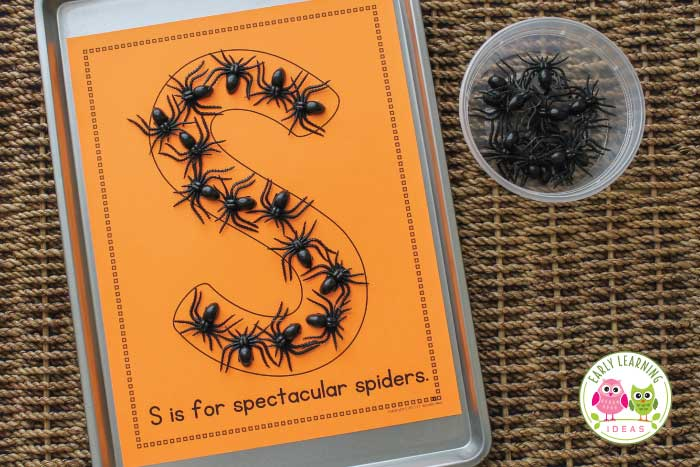 Check out these fun spider activities for your preschool and pre-k classroom. These are perfect if you are teaching spider theme, Halloween theme, or October unit and lesson plans. You will find simple ideas for spider learning activities like math, alphabet, and name activities with magnetic spiders. Plus you will find free printables....spider emergent reader. Spidery hands-on learning fun for your kids. #preschool #spideractivities #earlylearningideas #Halloweenactivities