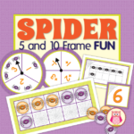 spider ten frame math activities for preschool and kindergarten
