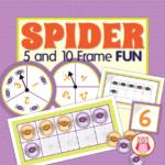 spider ten frame math activities for preschool and kindergarten