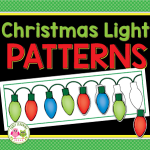 Christmas light patterning activity for preschool and pre-k