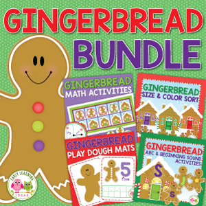 gingerbread activities bundle