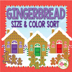 gingerbread color and size sorting activity for preschool and pre-k