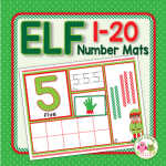 elf math activities for preschool pre-k and kindergarten