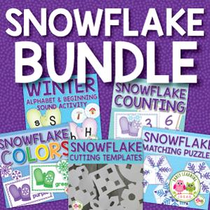 snowflake activities for preschool and pre-k