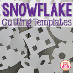 snowflake cutting templates for preschool, pre-k, kindergarten