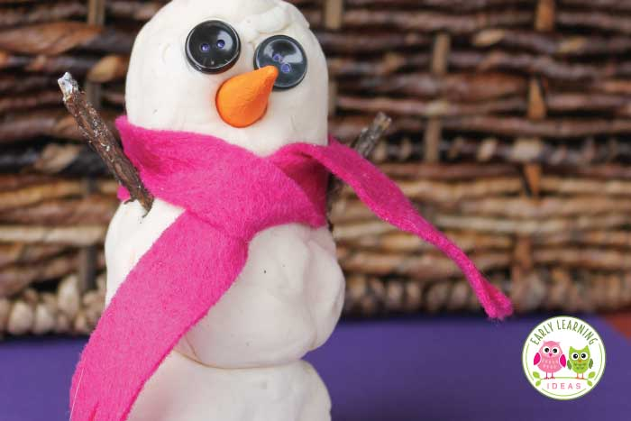 Making a playdough snowman is a great winter fine motor and sensory activity for your kids. Use these ideas to make snowman accessories (eyes, carrot noses, scarves, and arms) to add to your winter creation... a snowman invitation to play. Perfect for your play dough centers in your preschool or pre-k classroom. Check out these tip for your snowman theme, snow theme, or winter theme unit and lesson plans. #playdough #winteractivitiesforkids #preschool