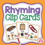 Kids enjoy the Multi-sensory activity to learn rhyming plus they get a little fine motor practice too. A great literacy learning center activity for preschool, pre-k, and kindergarten.