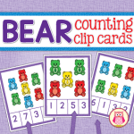 Bear counting clip cards - a great multi-sensory way to practice counting. Easily differentiated activity. The cards can be used for counting, one-to-one correspondence, matching colors, and the bears on each card can be counted several different ways. Use with plastic counting bears to practice color matching and one-to-one correspondence. Using the clip adds fine motor practice to the activity. Great for math learning centers in preschool, pre-k, and kindergarten