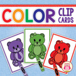 Color Matching Bear Clip Cards are a great way to practice colors. Perfect for preschool, pre-kinder, and tot school.