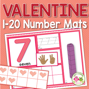 Valentine's Day number activity mats
