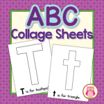 Editable ABC collage pages