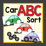 Car-alphabet-matching-activity