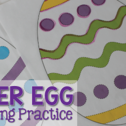 This set of free Easter egg pre-writing practice pages will help your kids practice making a variety of lines as they work on developing a stronger grasp in preparation for forming proper letters and writing.  The set includes four pages.  This is a great addition to your Easter or spring themed fine motor center in preschool, pre-k, tot school, or early childhood education.