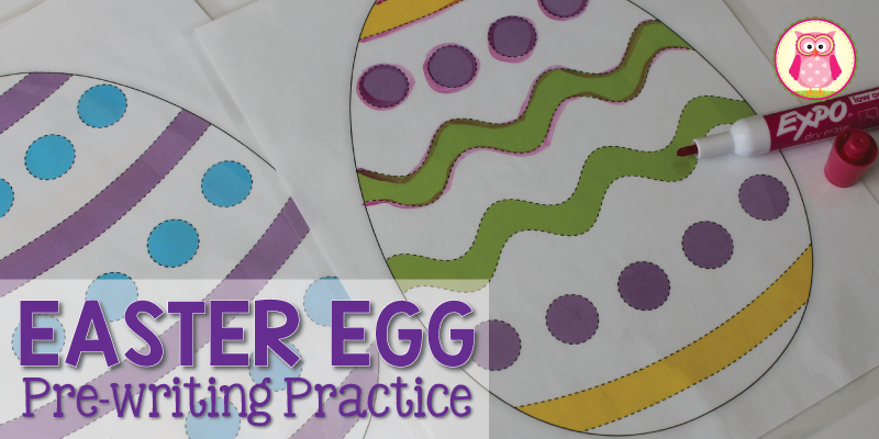 Easter Egg Pre-Writing Practice [Free Printable]
