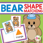 teddy bear shape matching activity