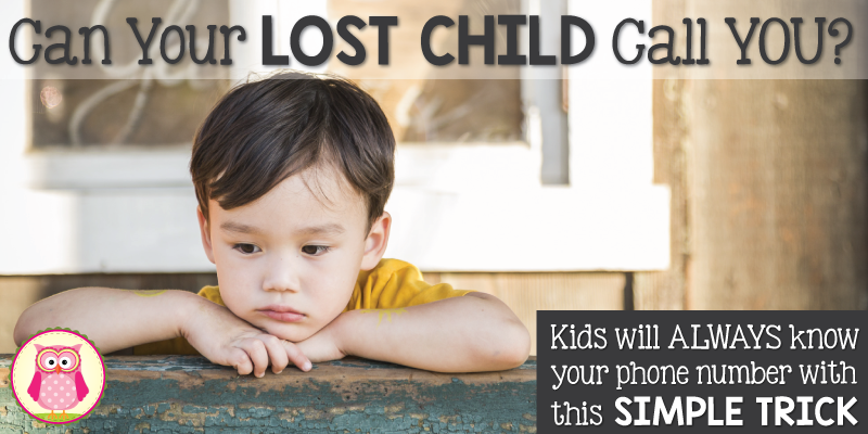 A Phone Number Trick to Help a Lost Child