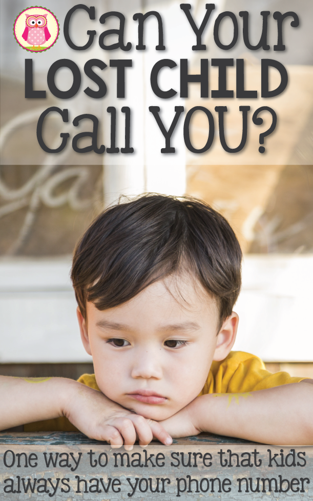 Can your child remember your phone number? If he is lost, can he give your phone number to a grown up? Here is a phone number trick that will help your kiddo communicate those important digits to someone who is helping him. This is a great tip for parents with toddlers and preschool or pre-k age children.