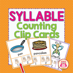 syllable counting clip cards.