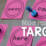Post-It Note Targets for Sight Word Practice