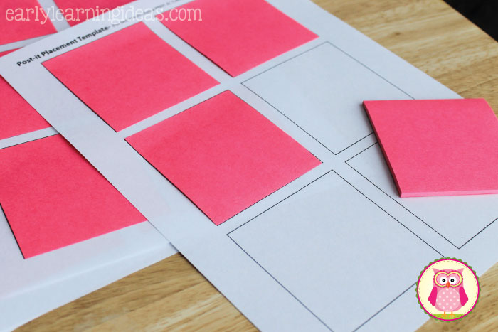 post it note targets for sight word practice early learning ideas