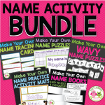 name activities for preschool and kindergarten