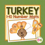 Turkey math activities for preschool and kindergarten