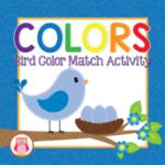 bird color matching activity for preschool, pre-k, and totshcool