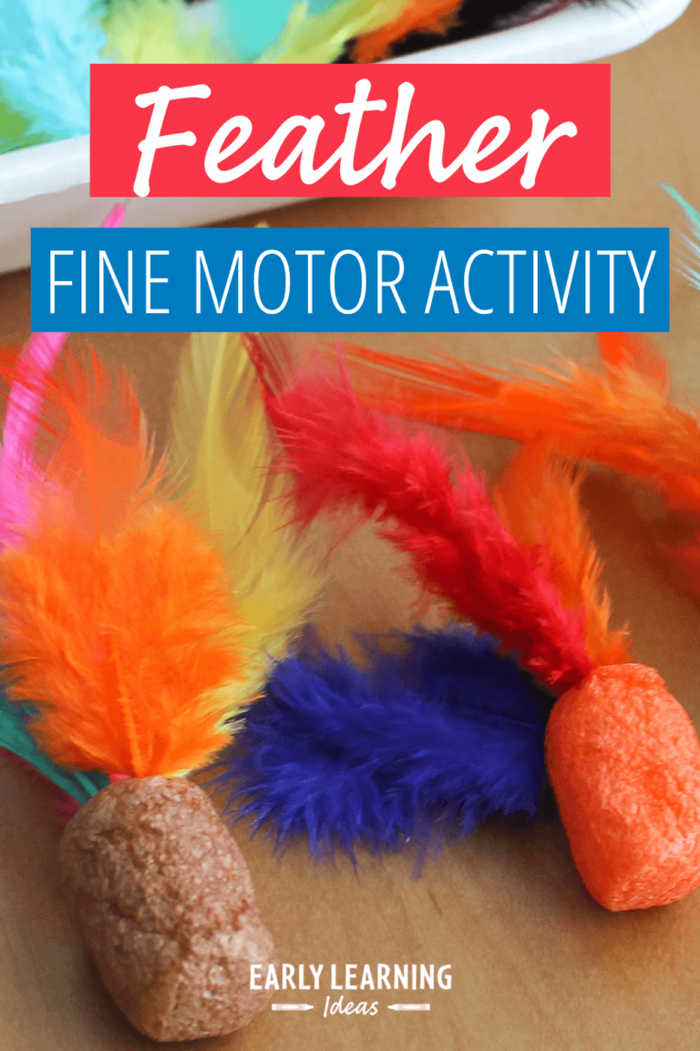 An Easy Feather Fine Motor Activity That Your Kids Will Love