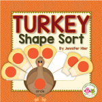 turkey shape sorting activity