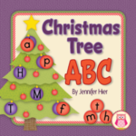 Christmas tree alphabet activity