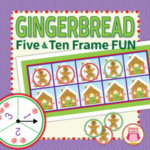 gingerbread math activities for preschool, pre-k and kindergarten