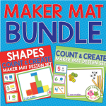 maker mat counting and creating activities for preschool and pre-k