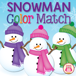 snowman color match activity
