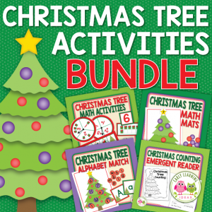 Christmas tree activities for preschool and pre-k