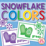 snowflake color and size sorting activity