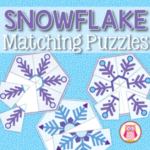snowflake matching puzzles for preschool, pre-k