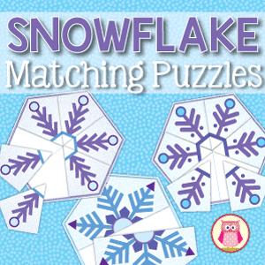 snowflake matching puzzles