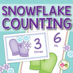 snowflake counting activities for preschool and pre-k