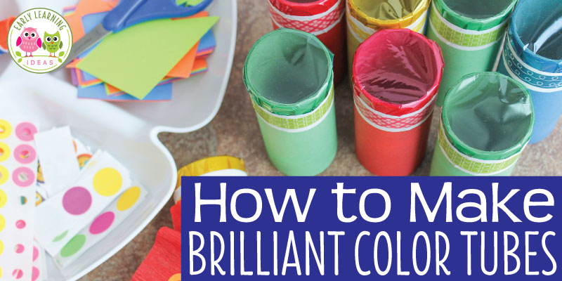 Preschool Arts and Crafts: Add a Little Color to Your World with Color Tubes