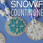 Snowflake Counting Necklaces:  Fine Motor and Counting Fun