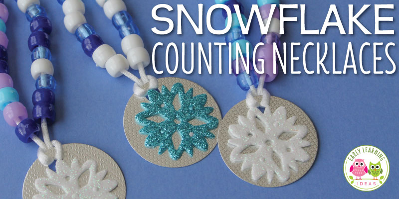Winter Crafts for Kids:  Make a Snowflake Counting Necklace