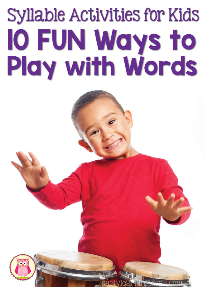 Here are 10+ fun syllable activities for kids. Teach kids how to break words apart into chunks or syllables with these phonological awareness activities. These are great hands-on activities for developing reading readiness in preschool, pre-k, kindergarten, and prep. Activities for both individual and groups are included.